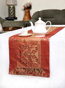 Details About Table Runner Animal Tapestry Silk Vintage Long Party Kitchen Coffee Cloth Cover