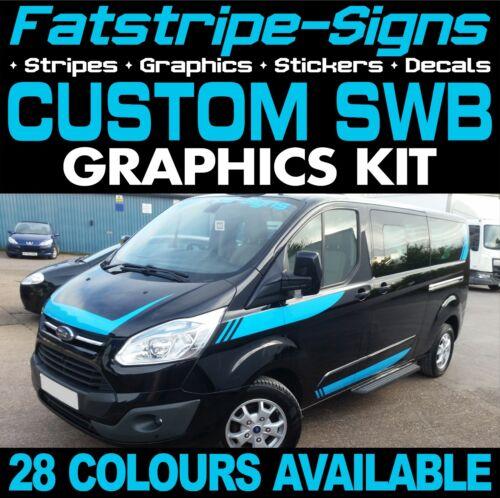 Ford Transit Custom SWB Gráficos Pegatinas Rayas Calcomanías ST M Sport 2.2 día van