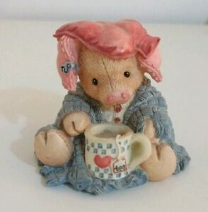 TLP-This-Little-Piggy-034-Stayed-at-Home-034-Collectable-Enesco-Pig-figurine