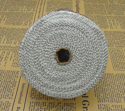 HIGH HEAT 5M FIBERGLASS EXHAUST HEADER PIPE TAPE WRAP INSULATION CLOTH White