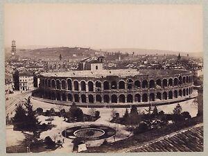 Panorama-Da-Verona-Italia-Vintage-Albumina-Ca-1875