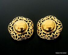 Designer TRIFARI sign. vergoldete edel Ohrstecker Ohrringe, Orecchini, Earrings
