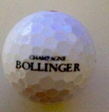 BOLLINGER CHAMPAGNE PROMOTIONAL GOLF BALL WILSON STAFF DX2 X 3 BALLS BNIB