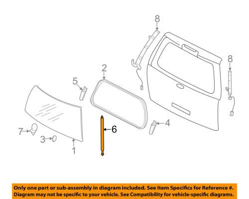 Liftgate Tailgate Hatch Trunk-Window Lift Support Strut Shock 7L1Z7842104A