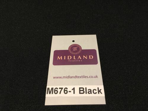 "Black Cotton Stretch Jersey Dress Fabric 58/"" wide M676 Mtex"