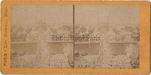 Parigi Expo 1900 Francia Foto Stereo Stereoview Vintage Albumina