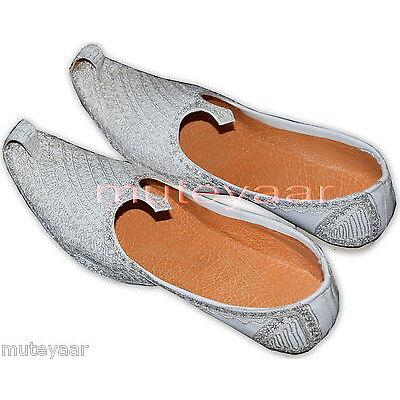 Hand Made Wedding Groom Achkan Sherwani Punjabi Jutti Khussa Mojari Shoes ACJ05