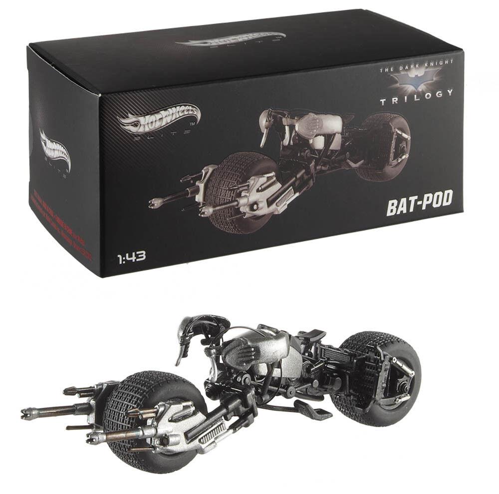 Batmobile Bat-Pod Batman Dark Knight Trilogy Batmoto 1 43 Hot Wheels Elite x5496