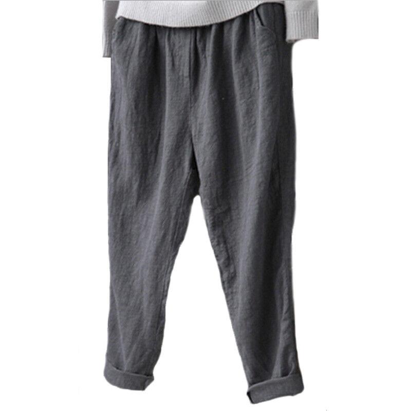 #3 Grau - Elastische Loose Fit Hose
