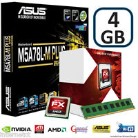 AMD FX4300 CPU 4GB DDR3 ASUS M5A78L-M PLUS USB MOTHERBOARD GAMING UPGRADE BUNDLE