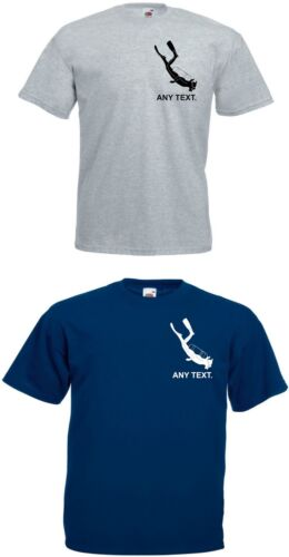 SCUBA.DIVER WATERSPORTS.Boats Name PERSONALIZED T.Any Text.MENS T SHIRT.