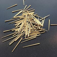 """Clock Repair tapered pins Brass 100 count size .030"""" to .065"""" x 1"""""""