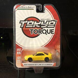 Greenlight-1-64-Tokyo-Torque-Series-4-2001-Nissan-Skyline-GT-R-BNR34-New
