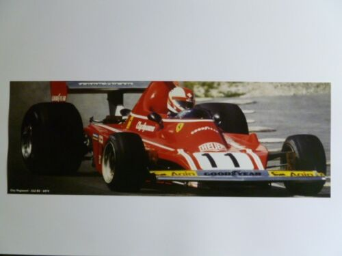 1974 Ferrari 312 B3 Clay Regazzoni Formula 1 Race Car Print, Picture RARE!! L@@K