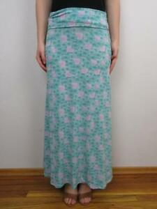 look for aesthetic appearance limited sale Details about LuLaRoe Maxi Skirt XS Slinky Green Pink White Geometric  Floral LLR Christmas HTF