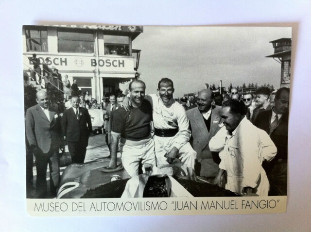 Juan Manuel Fangio with Stirling Moss Fangio Musuem Picture Argentina - NEW -