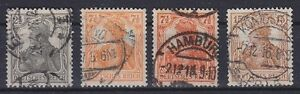 DR-Mi-Nr-98-100-mit-99-a-99-b-gest-Germania-V-Deutsches-Reich-1916-used