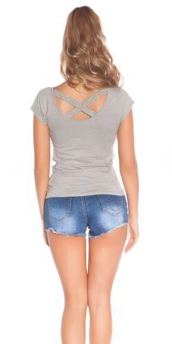 "Koucla Shirt Top T-Shirt /"" I Love KouCla/"" Shirt mit Strass"