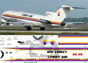 V1 Decals Boeing 727-200 First Air for 1/144 Airfix Model Airplane Kit V1D0027