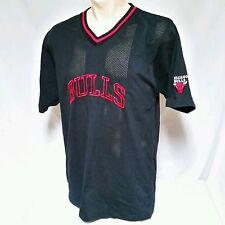 Vintage Chicago Bulls Warm Up Jersey Shooting Shirt Reebok 90's Jordan Large