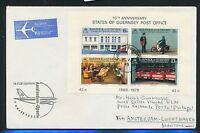 78523) KLM FF Amsterdam - Oporto Portugal 7.4.85, Brief ab Guernsey Block post