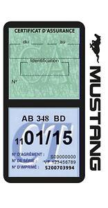 Porte vignette assurance FORD MUSTANG double étui voiture Stickers auto rétro