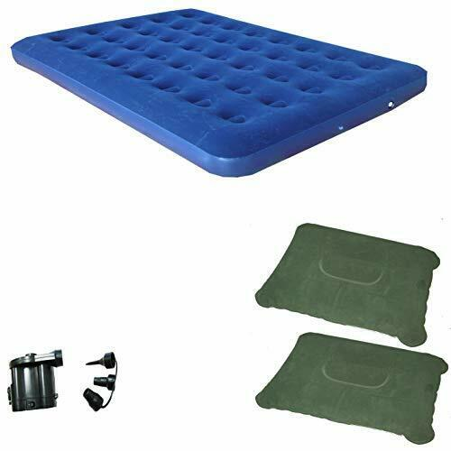 Zaltana Queen Size Air Mattress  with Battery Powered air Pump & 2 Pillows Combo