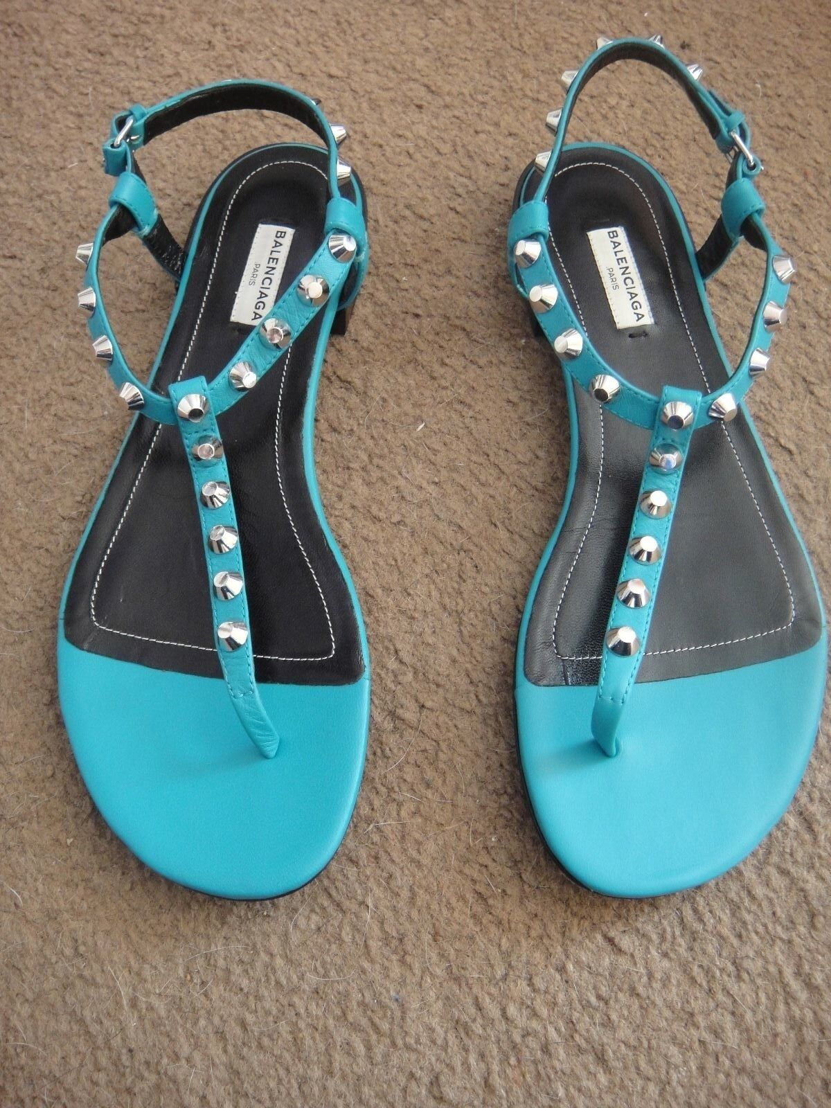 BEAUTIFUL BALENCIAGA  blue CARAIBE Sandals size 41