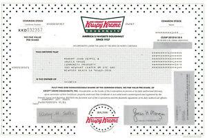 Krispy-Kreme-Doughnuts-stock-certificate
