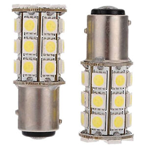 1X-2-x-1157-T25-BAY15D-P21-5W-27-SMD5050-12V-LED-feux-de-freinage-Blanc-Lum-J06