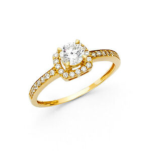 14k-Yellow-Gold-1-0-Ct-Diamond-Engagement-Wedding-Ring-Solitaire-Round-Cut