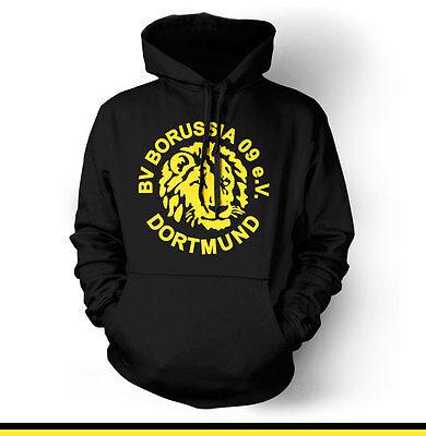 Borussia Dortmund Retro Germany Hooded Sweatshirt Hoodie Hoody UEFA  BVB 09