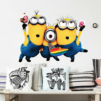 Hot Cartoon Despicable Removable Vinyl Wall Decal Stickers Home Decor Kid Room