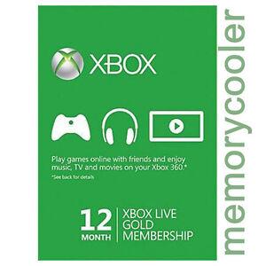 12 MESES Live GOLD SUBSCRIPCIÓN Tarjeta Prepago Xbox 360 / Xbox ONE ESPAÑA