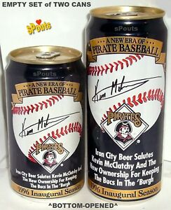 PITTSBURGH PIRATES MAN CAVE ALL-STAR WILLIE STARGELL BASEBALL BEER CAN IRON CITY
