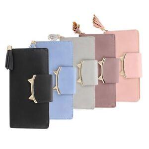 PU-Cat-Ear-Leather-Handbag-Coin-Purse-Clutch-Bag-Long-Envelope-Wallet