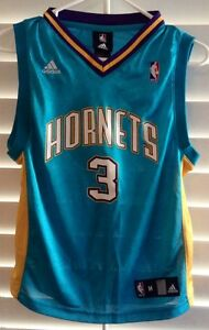 the latest 76bfd 4a545 Details about New Orleans Hornets CHRIS PAUL Adidas Teal Jersey youth medium