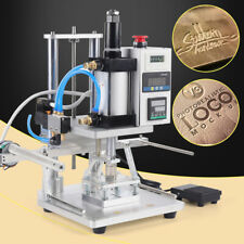 Air Operated Hot Foil Stamping Machine Pu Pvc Logo Leather Wood Press Embossing
