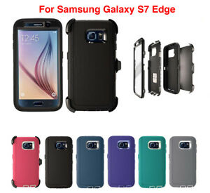 For Samsung Galaxy S7 Edge Defender Case & (Clip fits Otterbox) Screen Protector