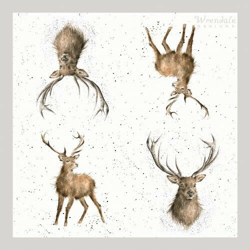 20 x Table Paper Napkins//Dining//WRENDALE WILD AT HEART STAG