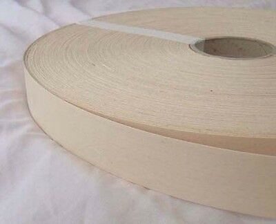 Betrouwbaar White Beech Iron On Edging Pre Glued Wood Veneertape 30mm Wide Various Lengths Hoge Veerkracht