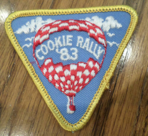 Vintage Girl Scout Uniform Patch Gs  Cookie Rally 1983 Hot Air Balloon