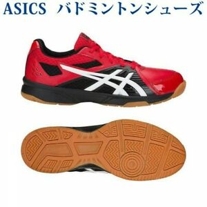 13ad13bffca Details about ASICS badminton shoes COURT BREAK 1071A003 CLASSIC RED/WHITE
