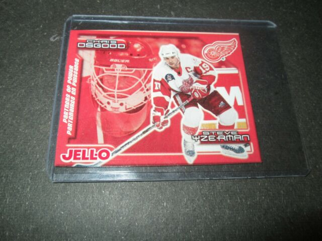 1999-00 Upper Deck Jell-O Partners Of Power STEVE  Yzerman Osgood #10