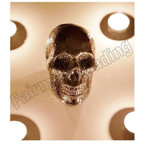 3 X Halloween Glitter Sparkling Skulls Skeleton Bone Spooky Scary Decoration Fun