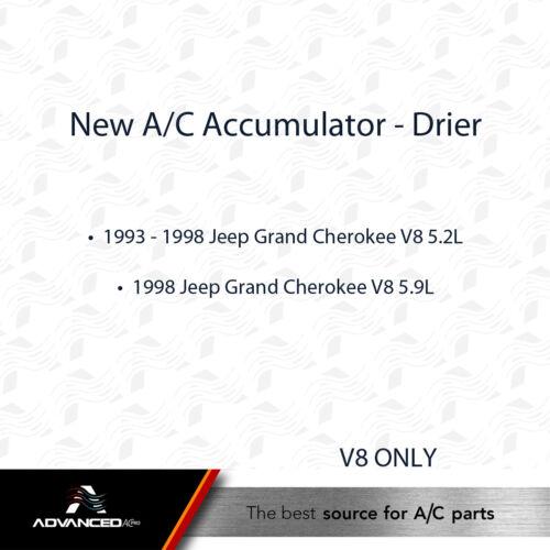 AC A//C Accumulator Drier Fits 1993-1998 Jeep Grand Cherokee V8 5.2L 98 5.9L