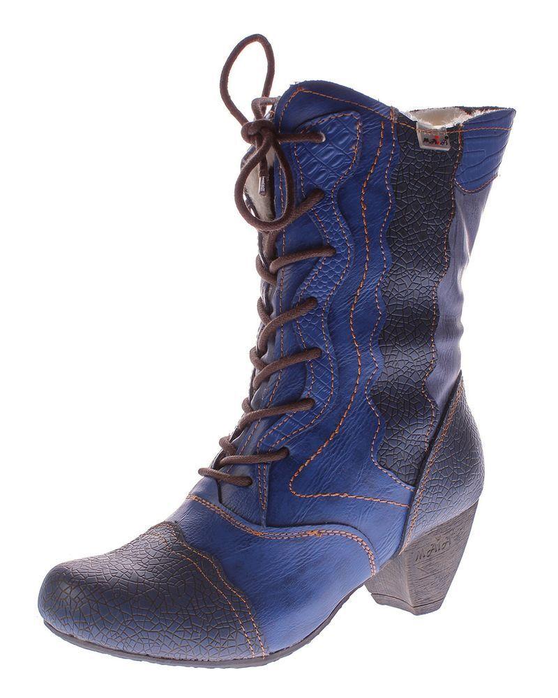 TMA señora botas botas botas de invierno cuero genuino zapatos forradas TMA 8991 reptil Print 36-42 2262b1