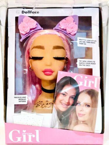 MGA Entertainment Who/'s That Girl Dollface Rosebud Practice New Styles /& Makeup
