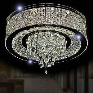 LED Glas Kristall Kronleuchter Deckenlampe Hängeleuchte Hängelampe 60cm Warmweiß