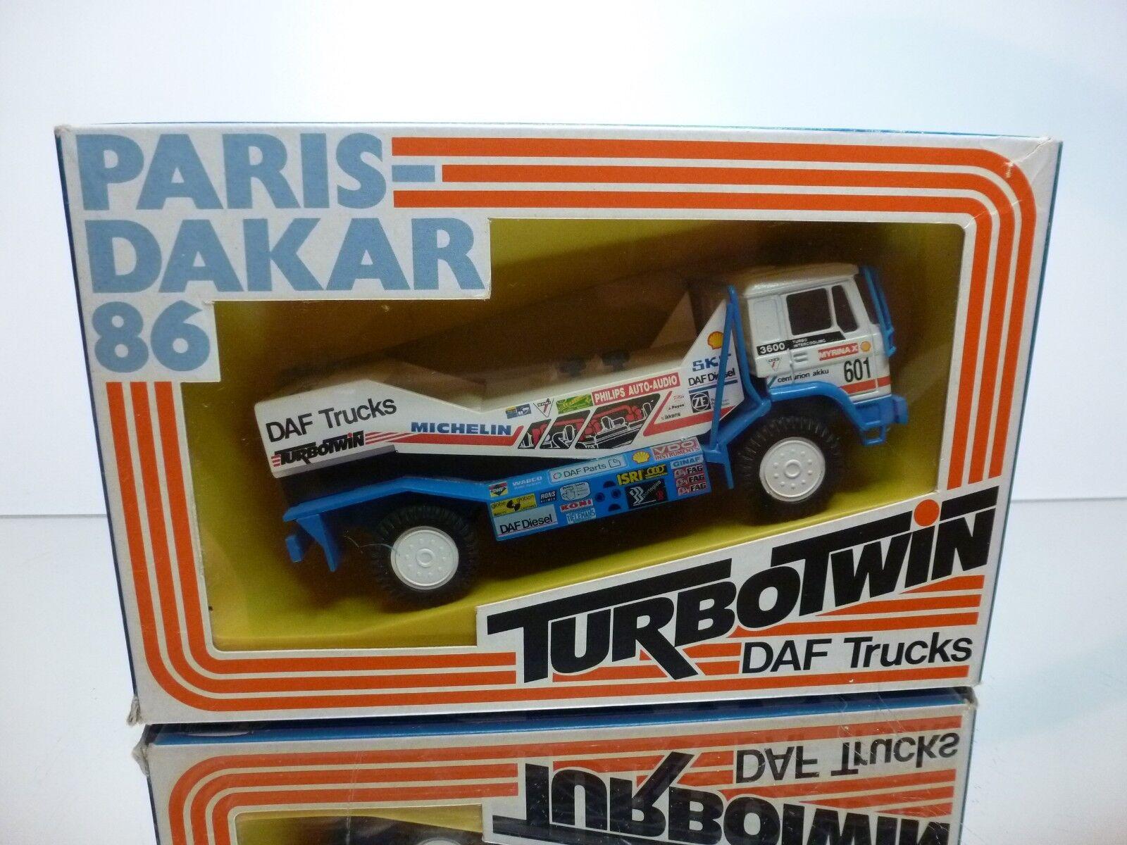 PORTEGIES DAF 3600 TURBOTWIN PARIS DAKAR 1986 DE ROOY - 1 50 - VERY GOOD IN BOX